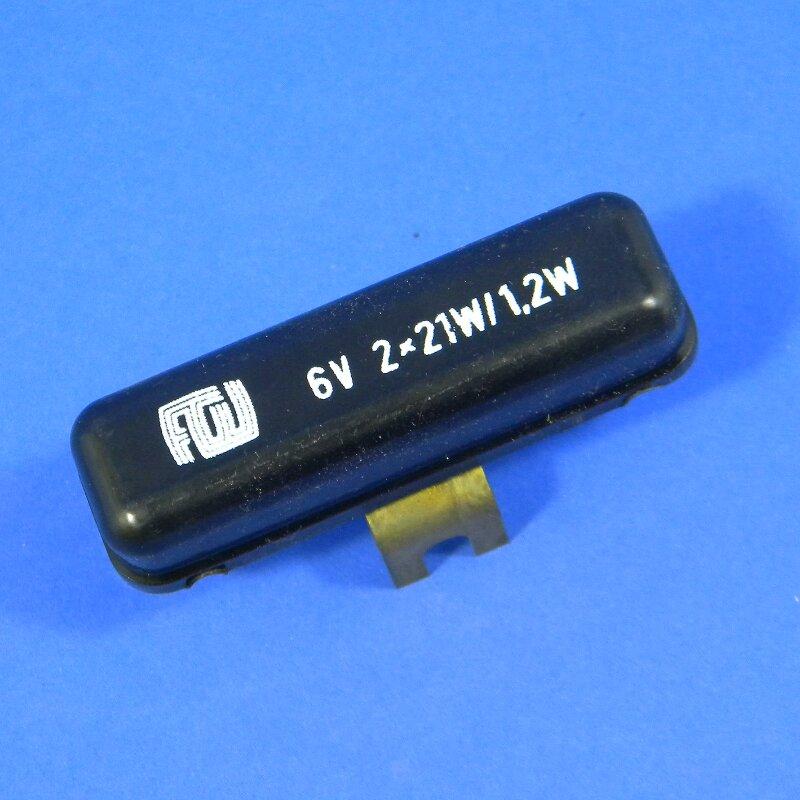 Bremslichtkontrollrelais 6V/2x21W