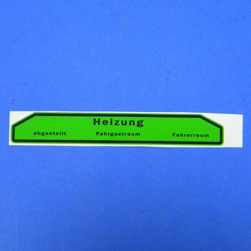 Beschriftung für Heizungsbetätigung, Framo V901/2