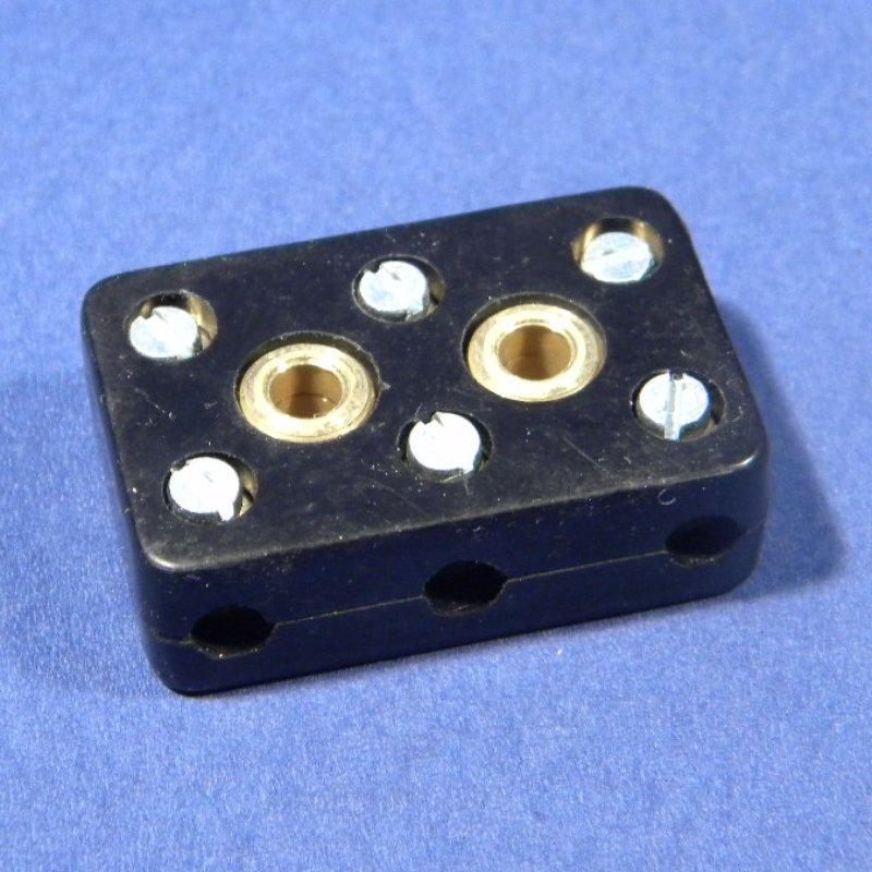 Kabelverbinder, Blockverbinder zum Schrauben 3-fach alter Stil