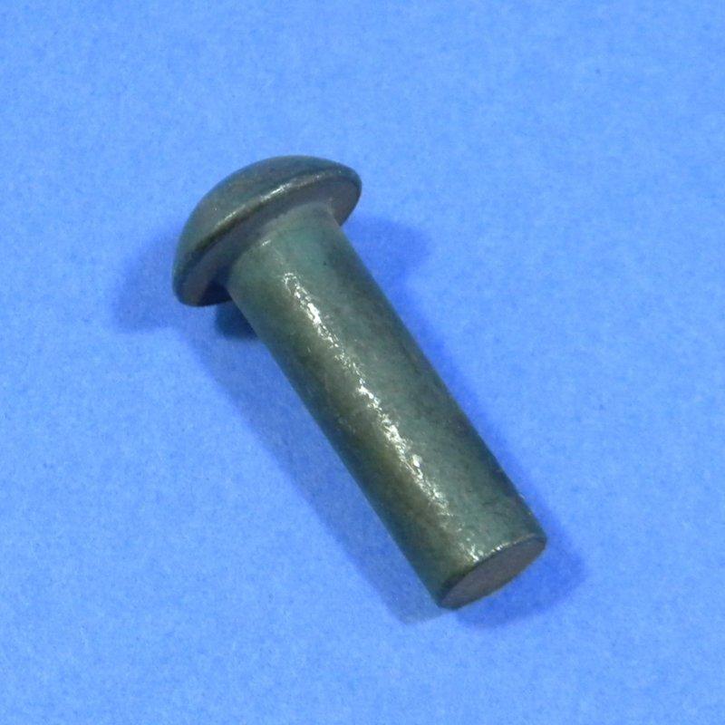 Halbrundniet DIN 660 8 mm, Länge 25 mm, Material: Stahl geglüht