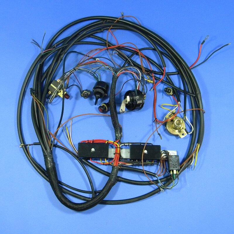 Framo V901/2 Kabelsatz vorn mit Warnblinkanlage und Schaltern, 12 Volt