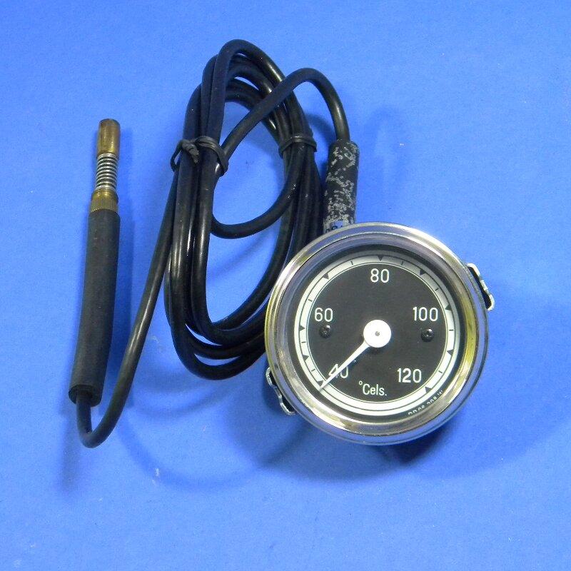 Temperaturanzeige Fernthermometer mechanisch 60 mm schwarz Framo